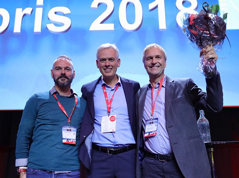 Vinnere av Fyrlyktprisen 2018 Erik Rose Johnsen, Arne Bjørn Mildal og Svein Taksdal