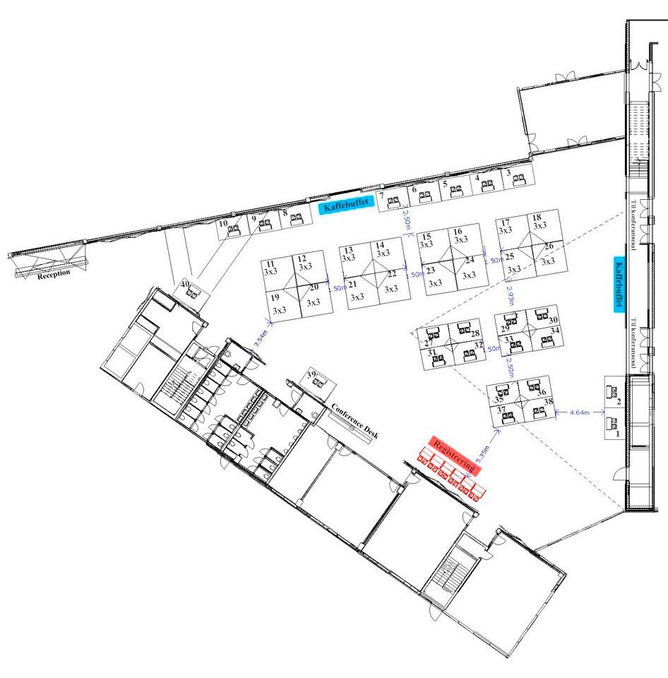 Utstillerområde Clarion Hotel & Congress, Utstillerplasser: 1 - 40