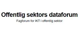 Logo for Offentlig sektors dataforum. Fagforum for IKT i offentlig sektor.