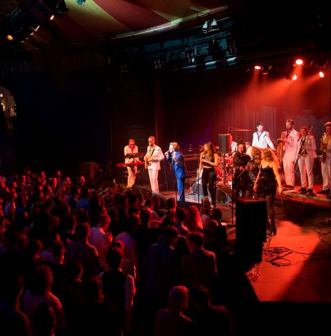 Leisure Suit Lovers foto fra opptreden på Stydentersamfundet i Trondheim