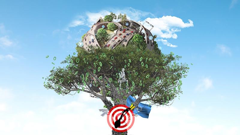Illustrasjon: digitalisering for bærekraft