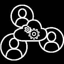 Tekradar ikon: digital samhandling
