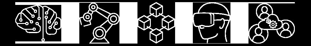 Tekradar ikoner: kunstig intelligens, robotisering, blokkjede, VR/AR, digital samhandling
