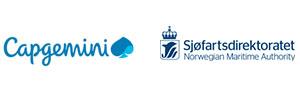 logoer: Capgemini og Sjøfartsdirektoratet